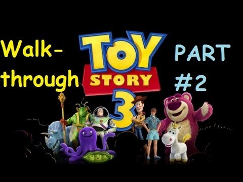 Toy Story 3 Video Game HD Walkthrough Part 2: Andy's House ALL ITEMS FOUND