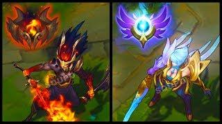 Nightbringer Yasuo and Dawnbringer Riven New Legendary Skins Final Update (League of Legends)