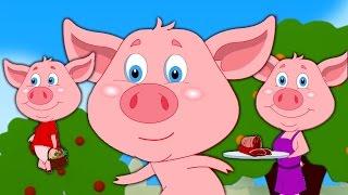 Con nhỏ này Piggy   Vườn ươm vần cho trẻ em   trẻ em bài hát   Baby Rhymes   This Little Piggy