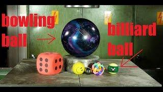 Crushing Balls With Hydraulic Press VOL. 3