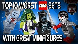 Top 10 Worst LEGO Sets with Great Minifigures