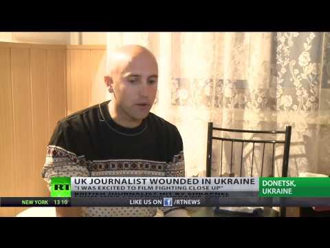 British journalist Graham Phillips wounded by shrapnel covering Ukraine crisis