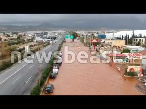 Newsbeast.gr - Εικόνες καταστ�οφής από drone στην Μάνδ�α