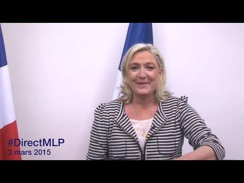 #DirectMLP : Marine Le Pen s'adresse aux Français