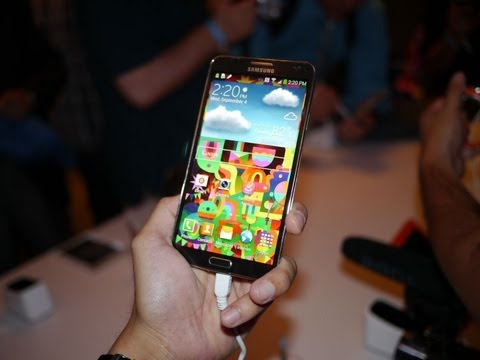 Samsung Galaxy Note 3 demo