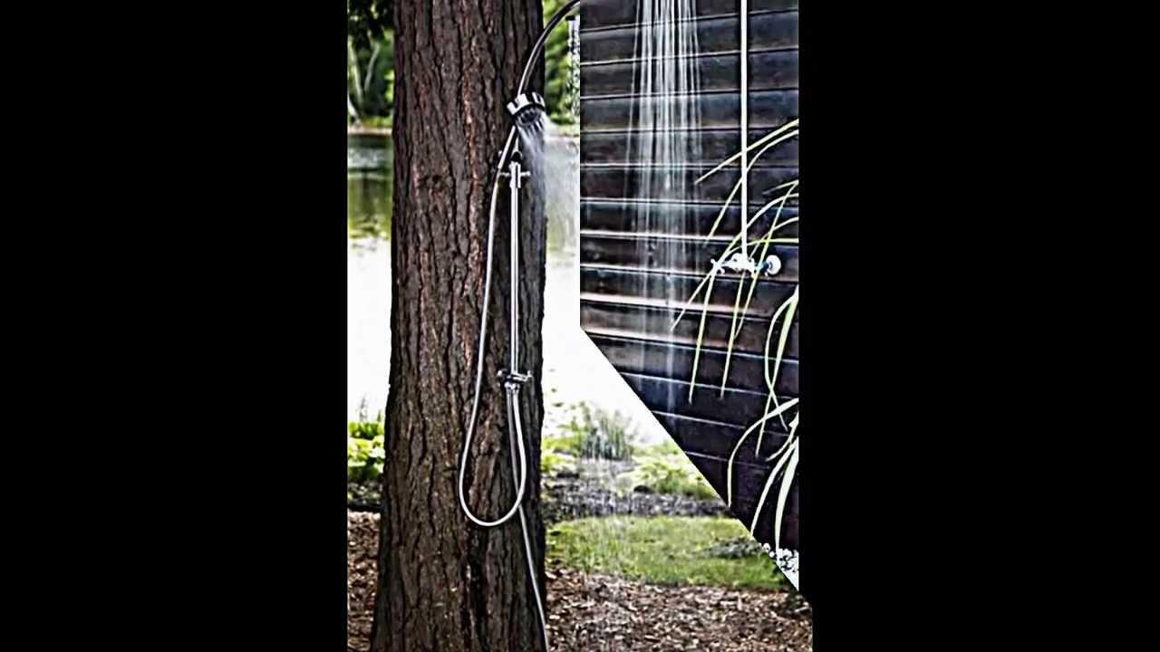 wie sie dusche im garten f r erfrischung im sommer selber bauen youtube. Black Bedroom Furniture Sets. Home Design Ideas