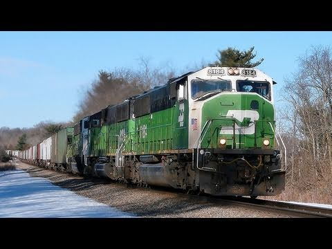 BNSF 8184 East (Three EMD SD60M) on 2-19-2011