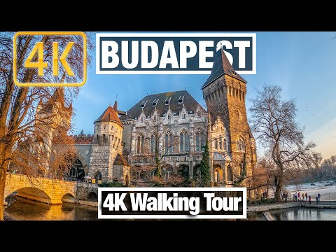 4K City Walks: Budapest, Hungary Heroes' Square and City Park - Virtual Walk Treadmill City Guide