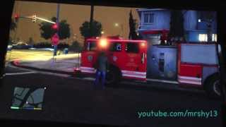 how to get a fire truck in GTA 5 grand theft auto 5 v