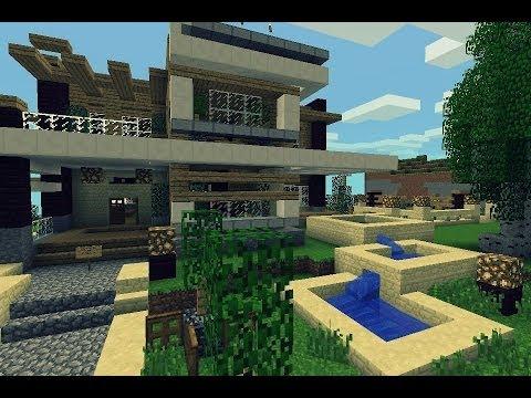 Super hiper mega genial casa moderna para minecraft pe for Casa moderna jardin d el menzah