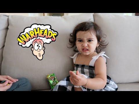 BABY VS. EXTREME SOUR WARHEAD (HILARIOUS REACTION)