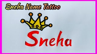 Sneha Name Tattoo Design With AP Anjali
