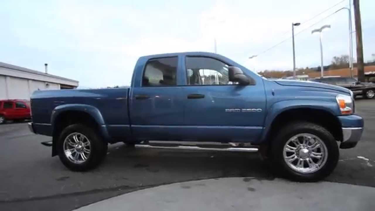 2006 Dodge Ram 2500 Quad Cab Blue 6j154727 Mt Vernon