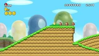 New Super Mario Bros Wii 新 超級瑪利歐兄弟Wii HD 第一大陸 草原 1-1