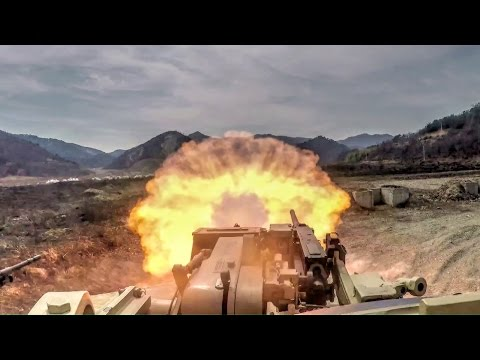 U.S. Marines M1A1 Tank – Live Fire Range in Korea