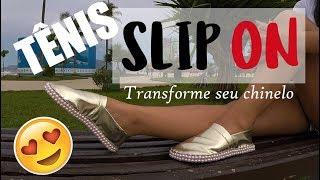 ✂️ DIY COMO FAZER TÊNIS SLIP ON - TRANSFORME SEU CHINELO
