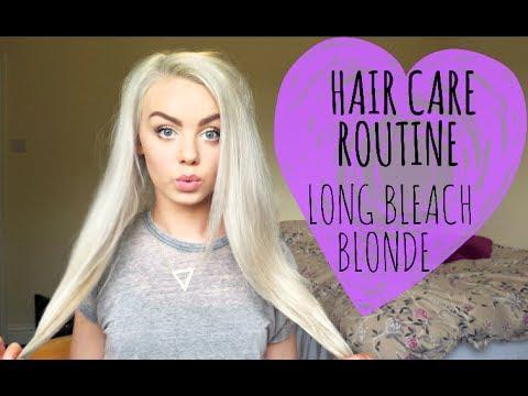 my hair care routine long bleach blonde hair youtube