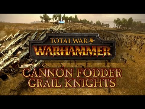 Total War: Warhammer - Cannon Fodder: Zombie Horde vs Grail Knights!