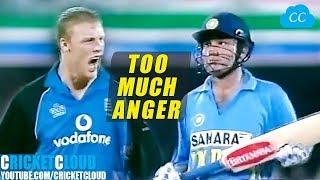 Sachin Sehwag Crushing England | Flintoff Super Angry !!
