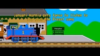 januari kurnia gets force to listen to Pop goes the Diesel song
