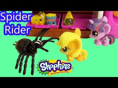Mlp Fashem's Shopkins My Little Pony Spider Rider Twilight Sparkle Applejack Halloween video