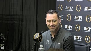 Media Day:  National Championship Steve Sarkisian