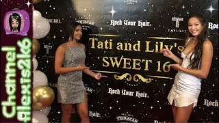 Lily Chee and Tati McQuay's Sweet 16 Party!! On the Red Carpet!!
