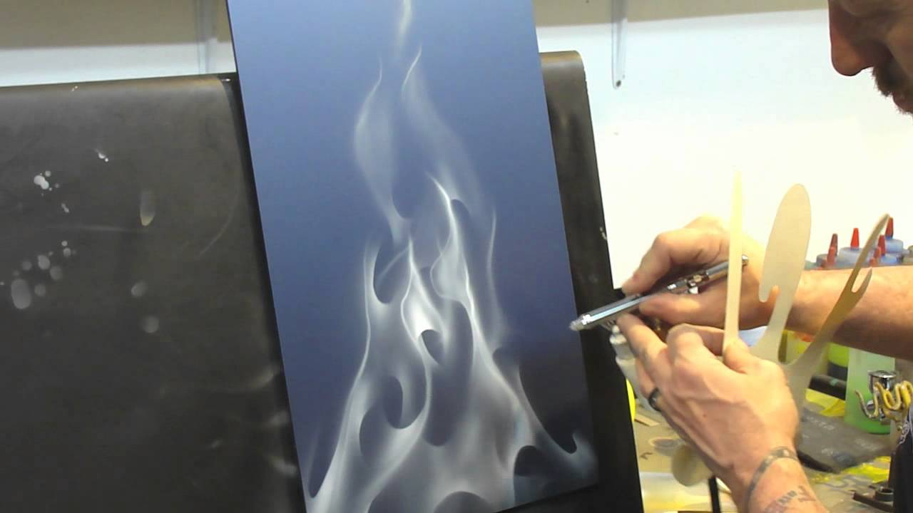 How To Paint Realistic Flames With Spray Paint