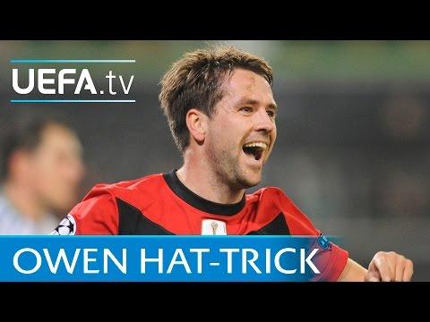Michael Owen hat-trick: Wolfsburg v Manchester United