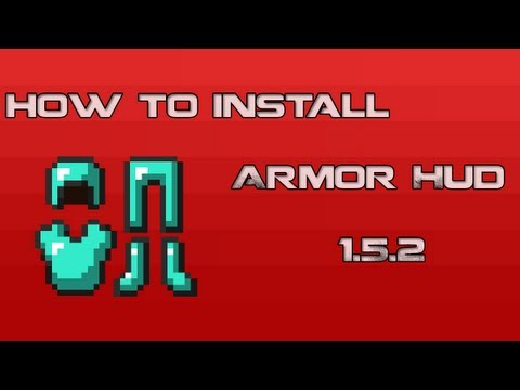 How to Install ArmorHud Status Effects HUD Direction HUD 1.6.1/1.5.2 Minecraft