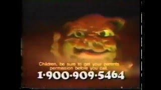 Boglins 1-900 Commercial!
