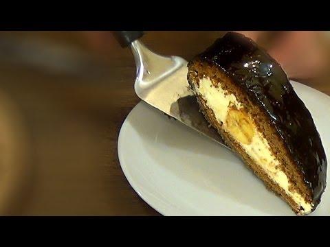"""Торт """"Слеза слона"""". Нежный медовый бисквит и банановая начинка."""