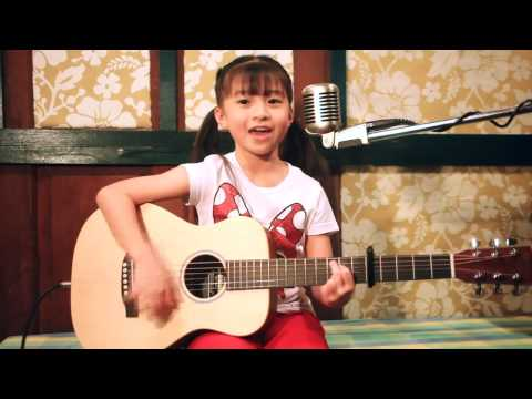 Leaving On A Jet Plane  Acoustic Cover By Gail Sophicha 8 Years Old. video