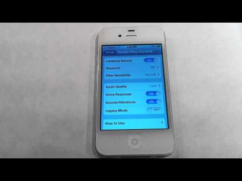 iPhone 4S Hands-Free Control Demonstration