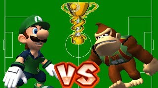 Super Mario Strikers - Luigi Vs Donkey Kong Round 8 (Professional Difficulty) in Super Flower Cup