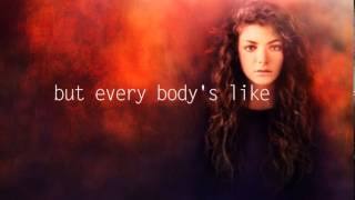 Royals by Lorde - lyric video
