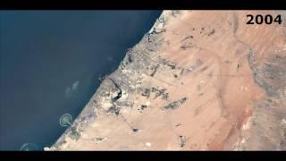 Dubai Evolution from 1984 to 2016 - Satellite Timelapse