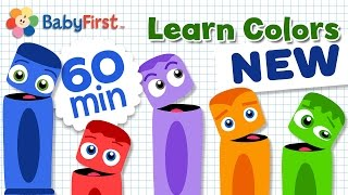 Learn Colors for Children with Color Crew   Color Cartoons for Kids Hour Compilation   BabyFirst TV