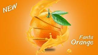 การทำภาพโปสเตอร์ Photoshop Poster Design Orange Flavor