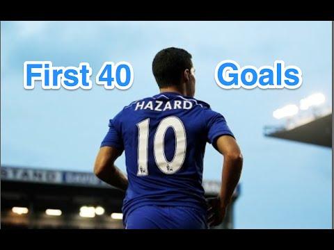Eden Hazard - First 40 goals for Chelsea FC - HD