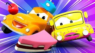 Tiệm rửa xe cho trẻ em - XE BUÝT Lily nhí đến Tiệm Rửa Xe của Tom cho TIỆC SINH NHẬT của anh ấy