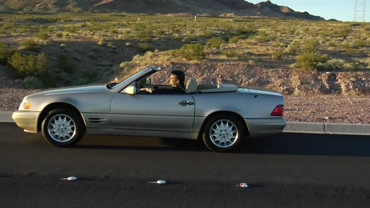 1996 mercedes benz 500 sl convertible test drive viva las vegas autos youtube. Black Bedroom Furniture Sets. Home Design Ideas