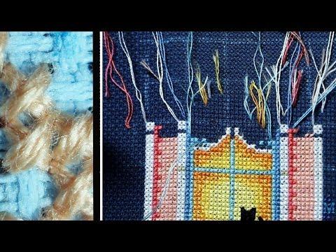 Как закрепить нитку при вышивке полукрестом 100