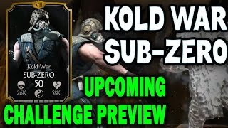 Kold War Sub-Zero Challenge (MKX Mobile). Who you need for last towers and BOSS BATTLE.