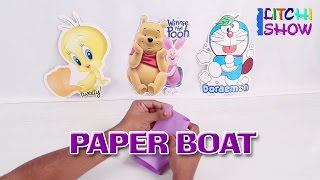 How To Fold A Simple Origami Boat | Making Easy Origami Boat | Paper Boat Instructions