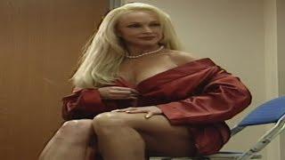 Debra wearing a red robe 03/01/99