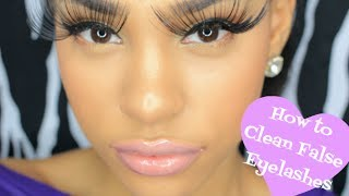 HOW TO : CLEAN FALSE EYELASHES TO RE-USE