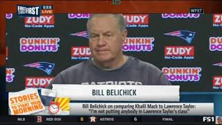 Bill Belichick on comparing anyone to Lawrence Taylor