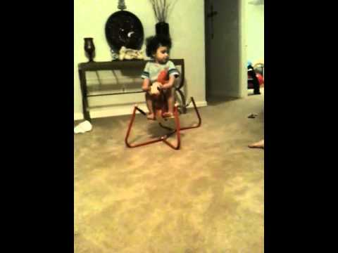 Boy On Rocking Horse video