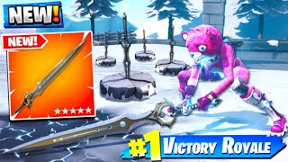 FORTNITE *NEW* INFINITY GOD SWORD GAMEPLAY! (Thanos Sword)